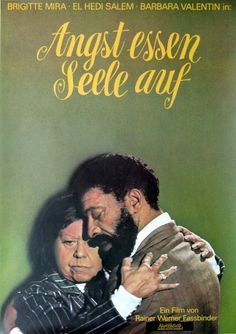 Ali: Fear Eats the Soul (1974) Directed by Rainer Werner Fassbinder. Very sweet and sad movie.