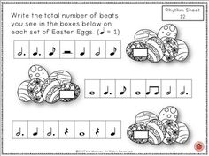 Music worksheets!  E