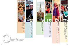 Bucknell University, Lewisburg, Pennsylvania/Table of Contents spread