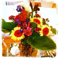 Home garden and farmers market flowers