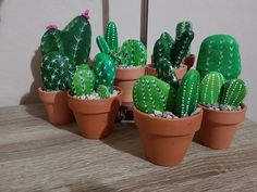 This is a hand painted CACTUS stone.The stones are glued together, so you can turn it upside down,or easily dust it. Cactus Rock, Stone Cactus, Painted Rock Cactus, Painted Rocks, Hand Painted, Rock Flowers, Fake Flowers, Green Flowers, Cactus Painting