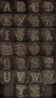 Nice decorative style alphabet, hand lettering by Antonio Rodrigues Jr.