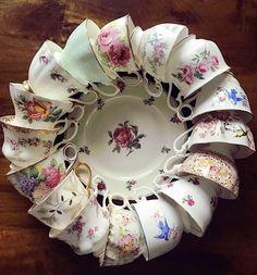 My very own teacup wreath!