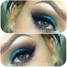 Green and brown smokey #makeupbyaprillopes