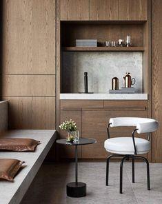 Custom-built interior in wood