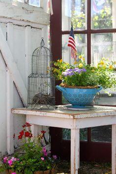 The Vintage House Outdoor Tea Garden