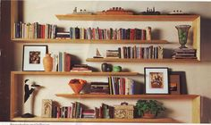 I have wanted these shelves ever since I saw them in an ACE Hardware ad 10+ years ago. I haven't yet found somebody who can build them for me!