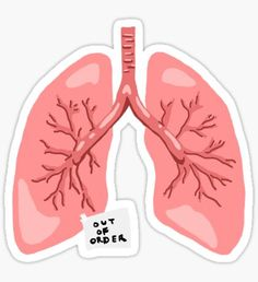 Out of Order Lungs Sticker