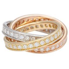 1stdibs | CARTIER Trinity Diamond Ring