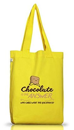 Shirtstreet24, Chocolate Is The Answer, Jutebeutel Stoff Tasche Earth Positive (ONE SIZE) - http://herrentaschenkaufen.de/shirtstreet24/shirtstreet24-chocolate-is-the-answer-stoff-one