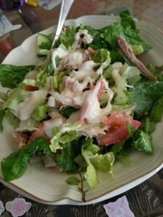 Yummy idea for thanksgiving leftovers, turkey salad!