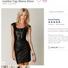 ISO Leather cap sleeve dress Looking for this item!! ISO free people leather cap sleeve dress in preferably a medium Free People Dresses