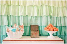 Aqua and Orange Baby Shower