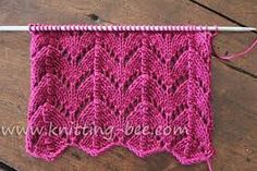 different lace knitting stitches - Google Search