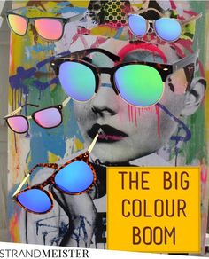 The big colour boom! Mirrored Sunglasses, Latest Trends, Colour, Big, Style, Color, Swag, Colors, Outfits
