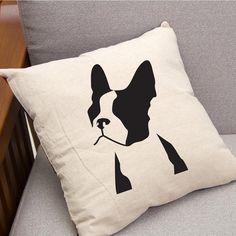 Boston Terrier Throw Pillow 16 x 16 Decorative by CreateBrightly