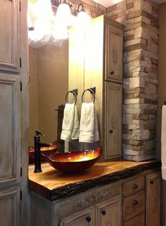 Wonderful Airstone Accent Wall Bathroom - 1bcc2db4c2e8f89aa79495d2b5321128--airstone-ideas-wood-counter  Perfect Image Reference_414518.jpg