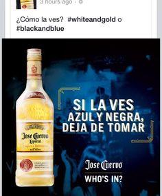 El vestido y la polemica que se armo en redes sociales #JoseCuervo  #Vestidoazulyblanco #vestidoblancoydorado