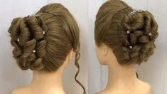 wedding hairstyles videos Easy Bun Hairstyle with Trick for Wedding amp; Hairstyles For Gowns, Easy Bun Hairstyles, Indian Wedding Hairstyles, Party Hairstyles, Hairstyles Videos, Prom Updo, Homecoming Hairstyles, Prom Hair, Engagement Hairstyles