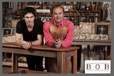 Bob and Ian Somerhalder at Built Of Barnwood - BuySomething Cool for your home - donate to ISF all at the same time!