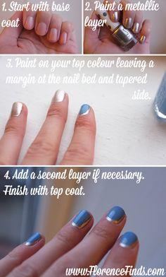 DIY crescent moon manicure tutorial #januaryjoy