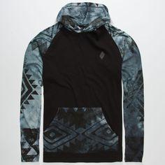 LIRA Aztec Dye Mens Lightweight Hoodie 247460100 | Lightweight Hoodies