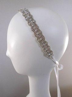 Wedding headpiece headband Rhinestone Headband by Tatishotties,
