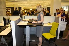 Modified Herman Miller Envelop - stand/sit ergonomic desk. Stay active at work! #exercise #stayfit