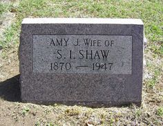 Amy Jane Woodhouse Shaw (1870 - 1947) - Find A Grave Photos
