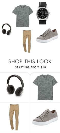 """Boys teen outfit"" by kgrandall on Polyvore featuring B&O Play, Uniqlo, Dsquared2, Vince, Rolex, men's fashion and menswear"