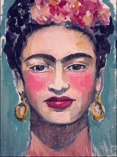 created this using oil paints on gessoed paper. #frida #fridakahlo #art #artist #portrait #face #ivynewport #oilpainting