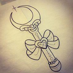 Sailor Moon wand drawing by Alex Strangler
