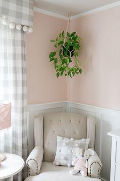 Pretty-in-Pink Nursery — BIRCHLEAF INTERIORS Girl Nursery, Girl Room, Baby Bedroom, Pretty In Pink, Baby Kids, Feminine, Interiors, Enchilada Casserole, Kid Rooms