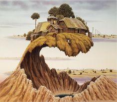 Don't Slam the Door. Surrealism in Dreamlike Oil Paintings. By Jacek Yerka.
