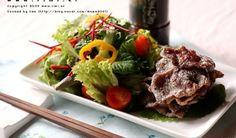 쇠고기 찹쌀구이 샐러드