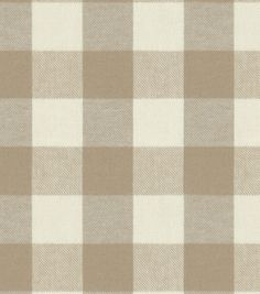 Upholstery Fabric-Waverly Bison Check Desert