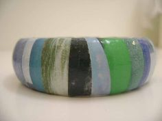 Bracelet Ocean's Surf Recycled Magazine Bangle by Aloquin on Etsy, $9.00