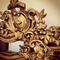 gilded and painted gold Rococo French mirror crests c.1880s / Frenchfinds.co.uk