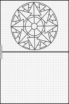 Geometric Drawing, Geometric Art, Graph Paper Art, Blackwork Embroidery, Math Projects, Technical Drawing, Art Activities, Embroidery Designs, Art Drawings