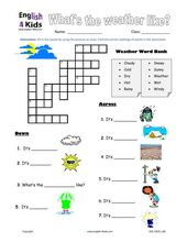 Worksheets Esl Worksheets Elementary esl kids worksheet weather worksheets pinterest kid english courses and materials for children young learnersesl we