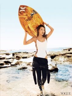 Blake Lively as the ultimate surfer girl