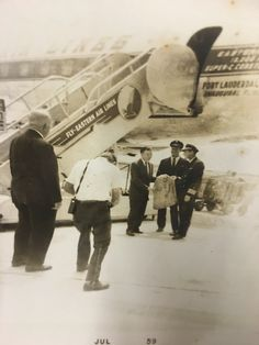 Photo for Unlimited Usage My Grandfather, Pilot 1959   Ft . Lauderdale Airport