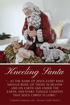 If you're looking for that combination of American culture and tradition without sacrificing deeper religious reverence, the Kneeling Santa collection is for you.