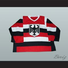 Want to buy Germany National Team Striped Hockey Jersey Any Player or Number, Germany-Striped ? Visit http://www.borizcustomsportsjerseys.com/product-p/germany-striped.htm