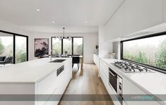Washington 51 dining and kitchen. French Oak, French Doors, Integrated Fridge, Bedroom Balcony, Timber Flooring, Ground Floor, Kitchen Dining, New Homes, House Design