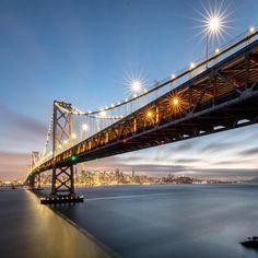 San Francisco Bay Bridge by oplattner #sanfrancisco #sf #bayarea #alwayssf #goldengatebridge #goldengate #alcatraz #california