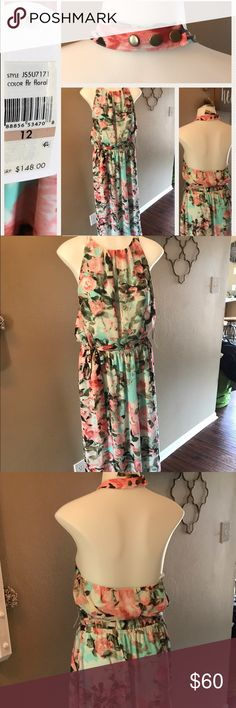 Jessica Simpson floral maxi dress Dress up or dress down this bright, floral dress. Great for spring and summer. Jessica Simpson Dresses Maxi