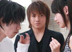 Kenichi Matsuyama, Tatsuya Fujiwara, and Erika Toda in Death Note (film)