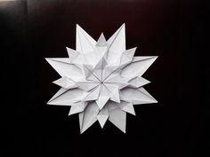 Красивая снежинка оригами, (Riccardo Foschi) Beautiful snowflake origami - YouTube
