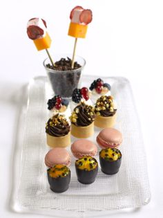 1000 images about canapes and entertaining for events on for Canape desserts